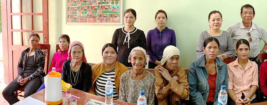 Women from Binh My village who received small business loans in 2019